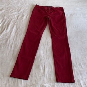 Anthropologie Level 99 Red Lily Skinny Straight 26